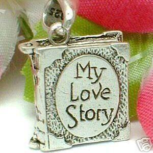 925 Sterling Silver My Love Story Book Locket Pendant