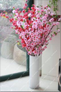 Plum Spring Peach Blossom Spray Branch Silk Flower Tree 49 22