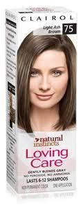 CLAIROL LOVING CARE LIGHT ASH BROWN 75 NATURAL INSTINCTS HAIR COLOR