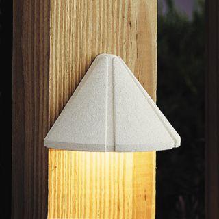 15065WHT Textured White Mini Deck Light   Low Voltage Deck Patio Light