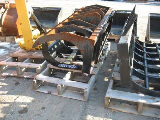 Buy All 4 Skid Steer Loader Buckets and Grapple