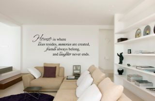 Home Is Where Love Resides Quote Vinyl Wall Decal Sticker Art Decor