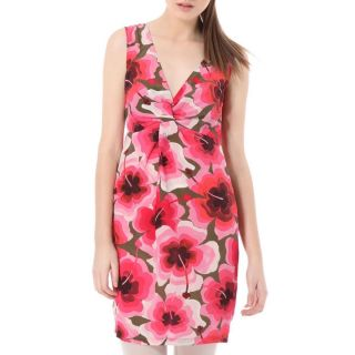 New $375 Love Moschino Women Pink Floral Sleeveless Silk Dress Size 10