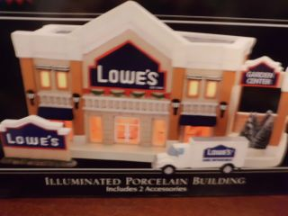 New Christmas Village Lighted Lowes Home Improvement Store Building