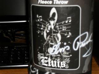 Black and White Elvis Presley Fleece Blanket Throw New