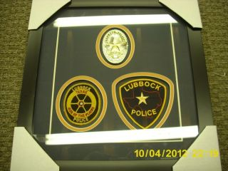 Obsolete Lubbock Texas Police Badge Custom Framed Trade