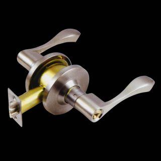 Hardware RH Entry Door Handle Knob Lever Lock Set 3 Keys LM