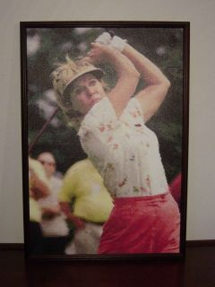 STEPHENSON FRAMED ORIGINAL DIGITAL ART CANVAS LPGA WSGT WOMENS GOLF LG