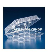Wholesale 50 Cupcake Muffin Plastic Boxes 12COMPARMENT Box Holds 600