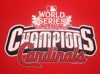 St Louis Cardinals 2011 World Series Champions T Shirt 2XL