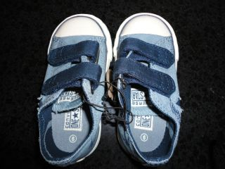 Converse One Star Infant Baby Toddler Boy Velcro Blue Shoes Sneakers