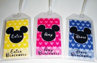 Disney Custom Personalized Luggage Bag Travel Tag