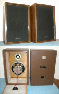 Pair Panasonic SB 207 Acoustic Suspension 2 Way Speakers   Mid Century