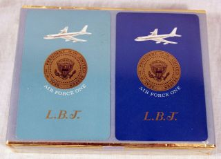 Lyndon B Johnson LBJ Air Force One 1 Presidential Playing Cards SEALED