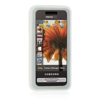 Luxmo Samsung Finesse R810 Translucent White Metro Pcs Cover Case