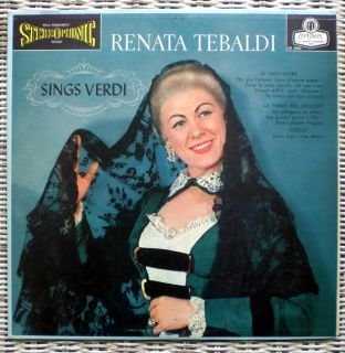 Renata Tebaldi Sings Verdi London Blue Back LP VG VG