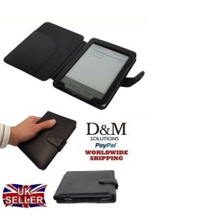 Black PU Leather Case Cover Wallet for  Kindle 4 4th