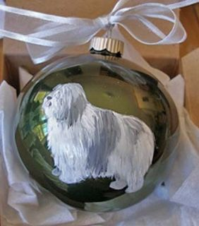 Polish Lowland Sheepdog Christmas Ornament Handpainted
