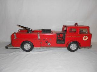 Vintage TEXACO Fire Chief Truck Gas Oil Can HAVOLINE Buddy L Marfak