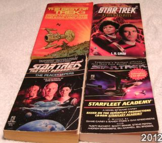 Mixed Lot of 4 Star Trek Books Paperback