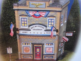 Dept 56 Armed Forces Recruiting Station   Snow Village #55081 NIB
