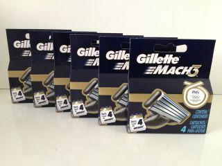 Gillette Mach3 Razor Blades Cartridges 6 Packs 24 Blades Black Friday