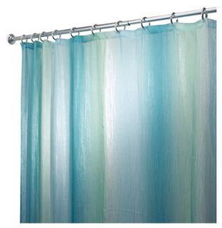 Interdesign 72 x 72, Ombre Blue & Green, Print Fabric Shower Curtain