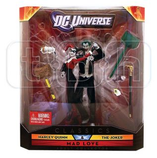 The Joker Harley Quinn Figure Mad Love 2 Pack DC Universe Classics