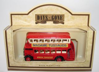 Lledo Days Gone MADAME TUSSAUDS 1932 AEC Regent Double Decker Bus