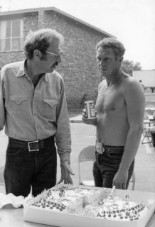 Getaway Candid Sam Peckinpah Ali MacGraw 33 Steve McQueen with