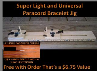 Paracord Super Light Weight and Universal Bracelet Jig 1 Needle 1 Ext