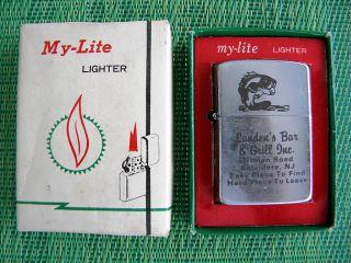 Vintage My Lite Lighter Lundens Bar Grill