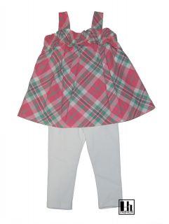 Ralph Lauren Girls Madras Tunic Shirt Leggings Set