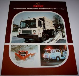Mack Heavy Duty Trucks For Public Service Sales Brochure   Engine Fire