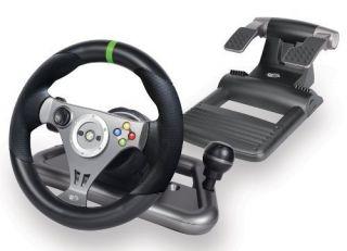 Mad Catz Gaming Steering Wheel Wireless Headphone Xbox 360 Saitek