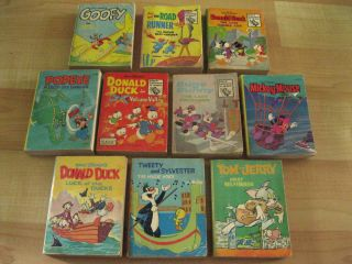 Lot 10 Walt Disney Big Little Book Series Mickey Mouse Tom & Jerry