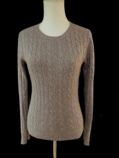 MAGASCHONI Purple Cashmere Cable Knit Crew Neck Sweater XS