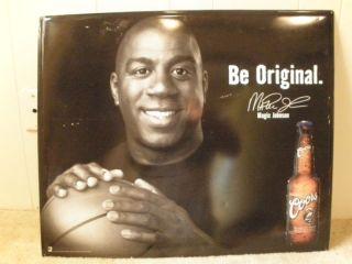 Magic Johnson Be Original Coors Beer Metal Sign 23x28