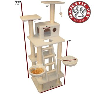 Bungalow Sherpa Cat Tree by Majestic Pet 27 to 80 Assorted Sizes