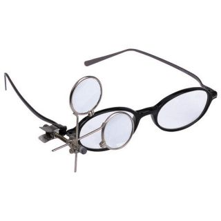 16 5X Jewelers Eye Loupe Clip on to Glasses Magnifier Hobby Crafts