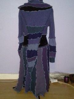 OOAK Handmade DIY Fairy Festival Upcycled Hippie Boho Eco Sweater Coat