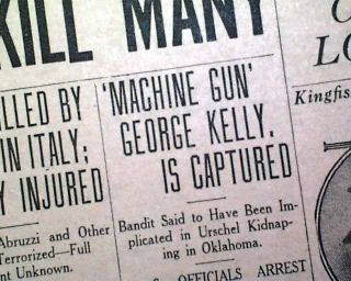 the life of machine gun kelly a gangster during the prohibition A notorious american criminal during the prohibition era kelly's nickname came from his favorite weapon, a thomas sub machine gun al capone does my shirts.