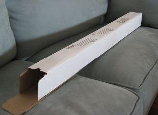 15 3x3x36 White Corrugated Boxes Mailing Tube Carton