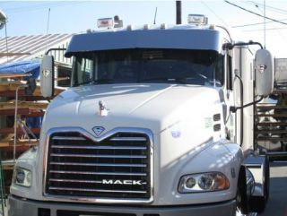 Mack CH and Mack Vision 13 Drop Visor Polished Stainless Steel Fits