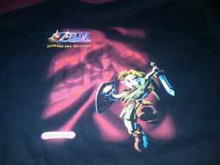 Nintendo N64 Zelda: Majoras Mask Promo Tee T shirt Dr. Pepper Contest