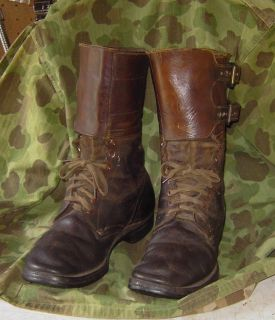 WWII US Soldiers Double Buckle Combat Boots Army Paratrooper