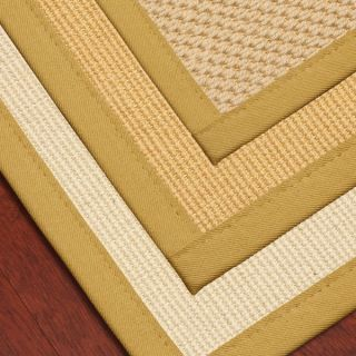 Natural Fiber Wool Sisal Rug w Natural Cotton Binding