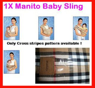 1x Manito Baby Ring Sling Newborn Infant Todler Carrier Wrap Stripe 0