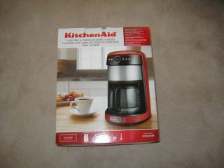 Kitchen Aid Coffee Maker 14 cup glass carafa Empire Red BRAND NEW