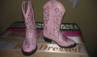 Girls Toddler Pink Glitz National Pageant Western Wear OOC Boots 9